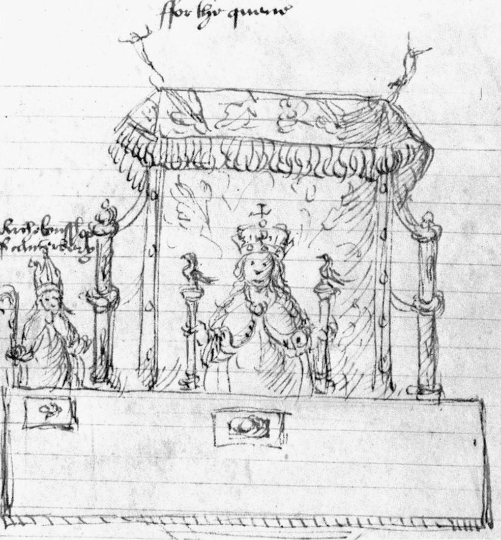 copy of one of Holbein's sketches for the arrangements at Anne's coronation