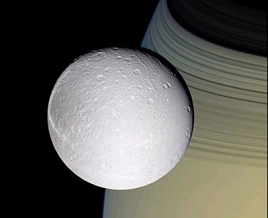 Dione from Cassini 2004