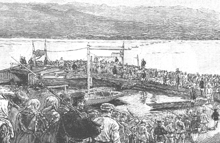 exiles crossing the Yenisey 1890s