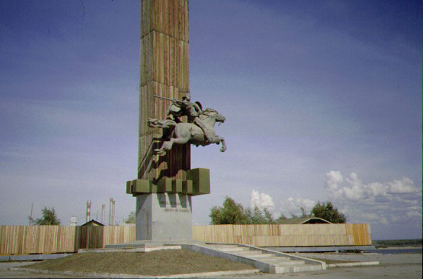 monument to Masary in Yakutsk - photo by Heather Hobden