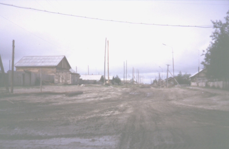 Zhigansk, main street, 1993 photo by Heather Hobden