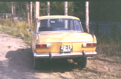 Lada with high suspension in Yakutia