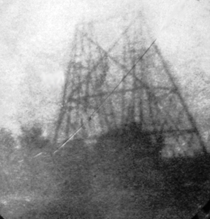 copy of Herschel's photo of telescope at Slough