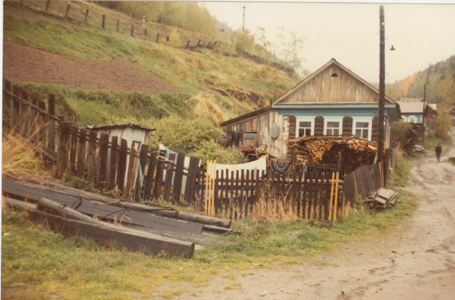 The villages by the shores of Baikhal did not look much different in 1983 to what they would have looked a century earlier - and still have outside loos -photo by Heather Hobden