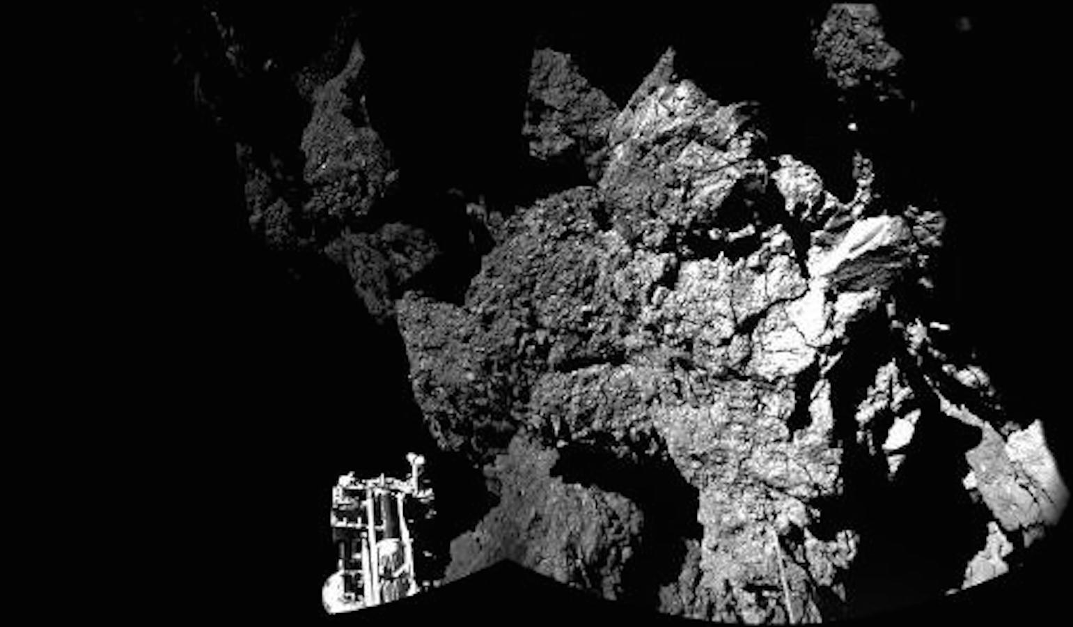 view from Philae probe