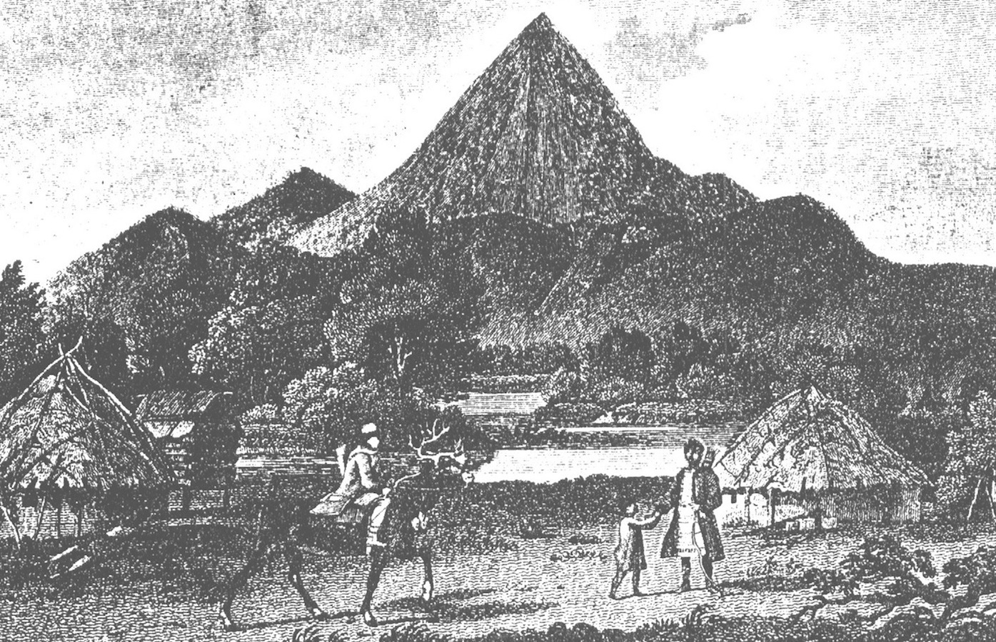 illustration from the Billings Expedition of the Tungus village near Okhotsk