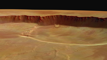 Olympus Mons Craters from Mars Express 2004