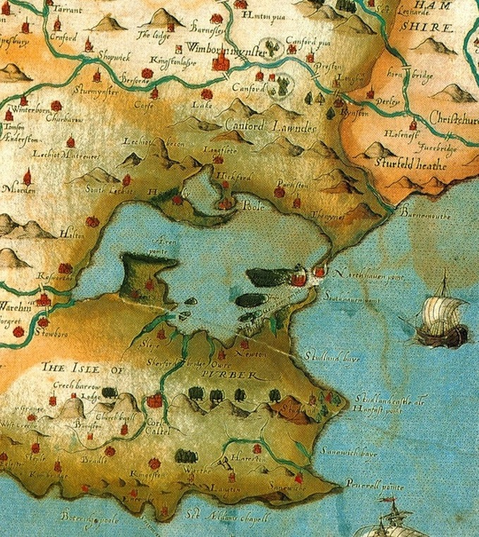 Poole harbour and surrounds in 16th century